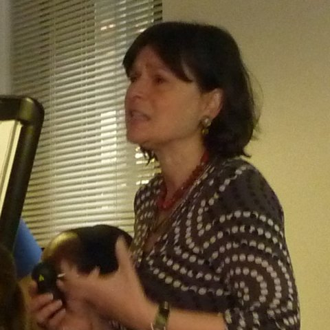 Beverley Costa speaking at the In your own words event