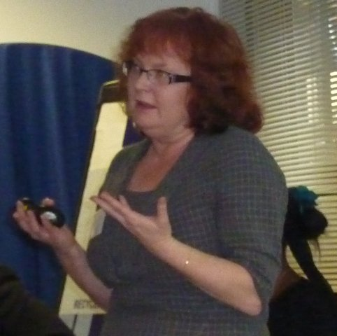 Renata Towlson speaking at the In your own words event